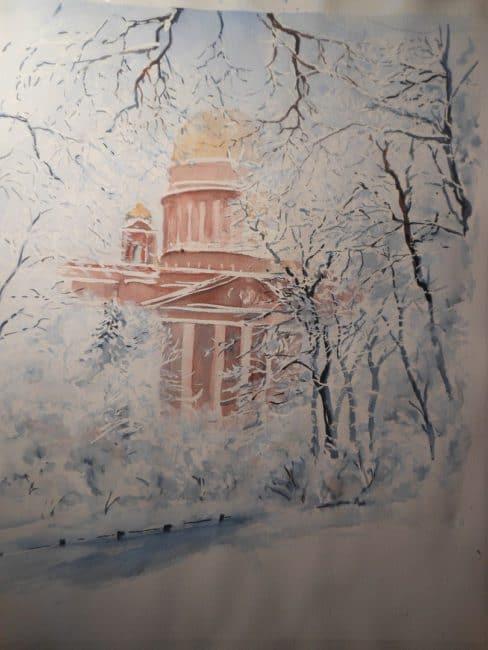 Макрицкий. Зима в Петербурге